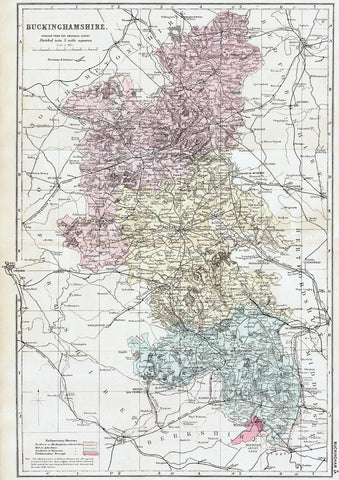 Buckinghamshire in 1890 by G. W. Bacon