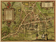 Cambridge (Cantebrigia) in 1572