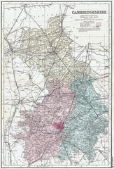Cambridgeshire in 1890 by G. W. Bacon