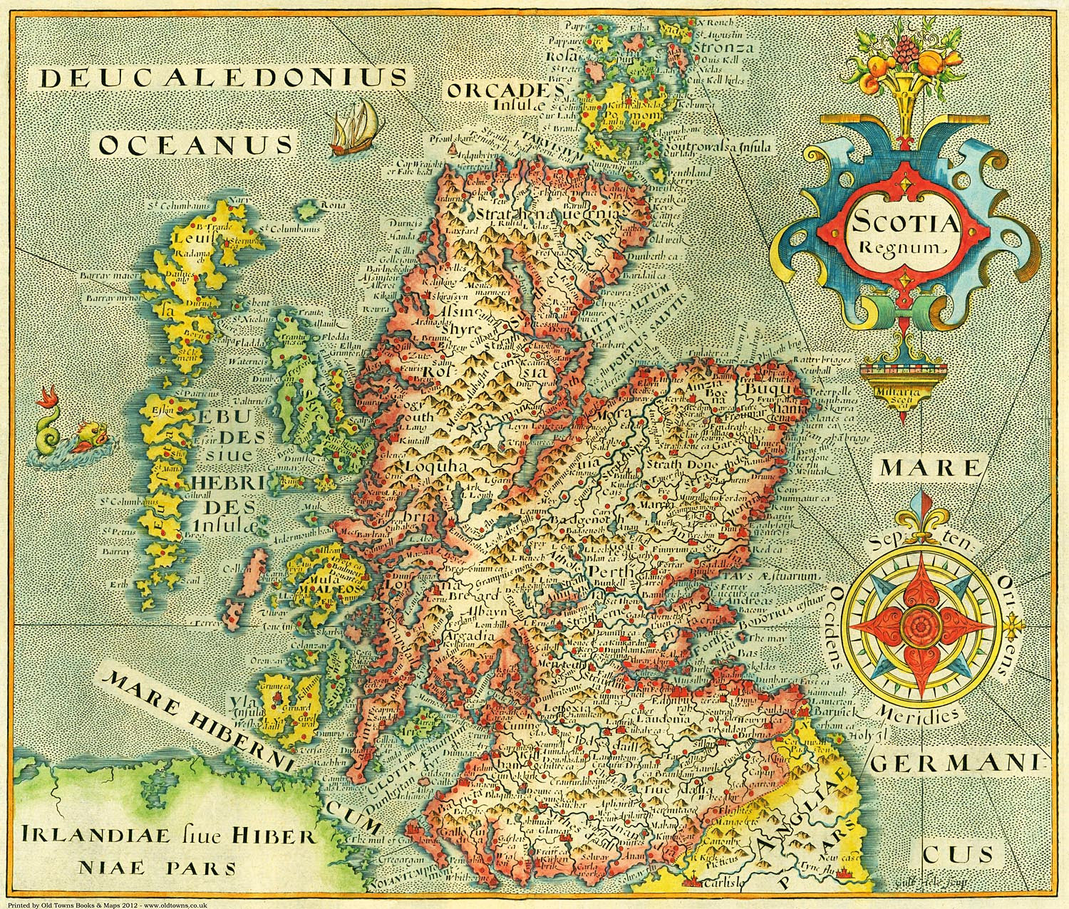 photo regarding Printable Map of Scotland titled Scotland inside 1637