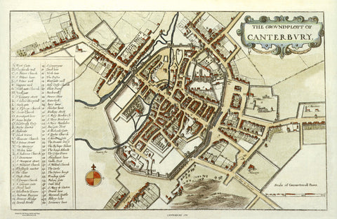 Canterbury in 1670 by W. Holler
