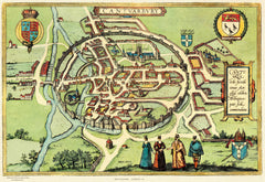 Canterbury (Cantuabury) in 1588