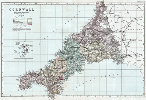 Cornwall in 1890 by G. W. Bacon