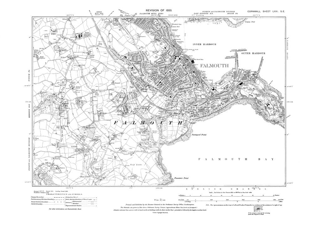 Falmouth, Cornwall in 1933 (71-SE)