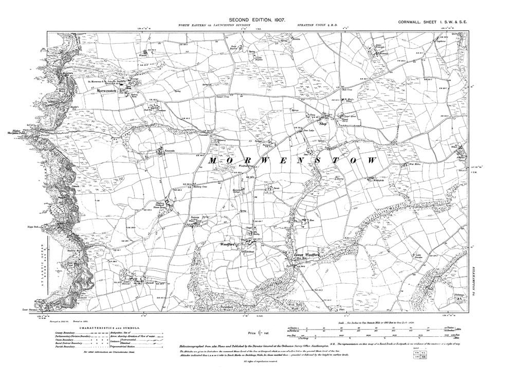 Old Map Of Morwenstow Shop Woodford Cornwall In Old Towns Maps - Old map shop