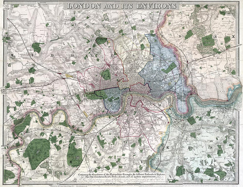London and its Environs in 1847 by B. R. Davies