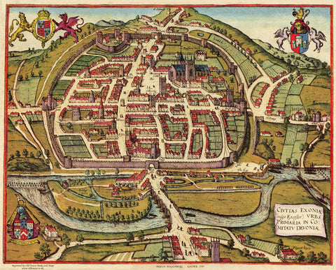 Exeter (Exoniae) in 1597