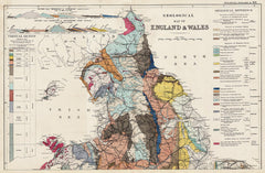 Geology of England & Wales (north) in 1890 by G. W. Bacon
