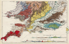 Geology of England & Wales (south) in 1890 by G. W. Bacon