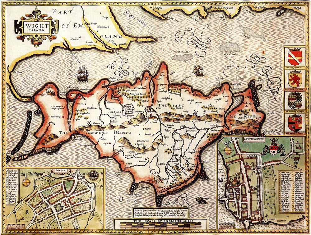 Isle of Wight (John Speed 1610)