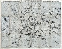 Illustrated Map of London, 1877