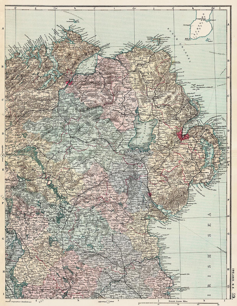 Ireland north east in 1890