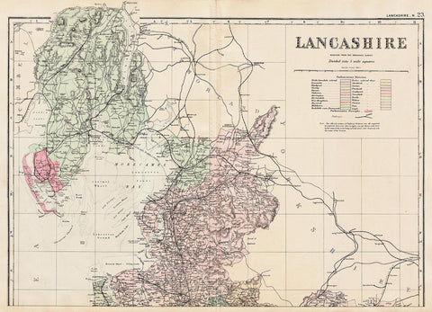 Lancashire (north) in 1890 by G. W. Bacon