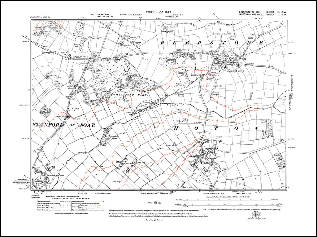 Hoton, Leicestershire in 1922 : 11 SW