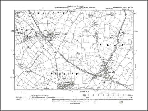 Ashfordby (N), Saxelby, Holwell Works, Leicestershire in 1904 : 19 NE