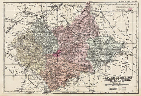 Leicestershire & Rutland in 1890 by G. W. Bacon