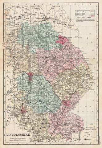 Lincolnshire in 1890 by G. W. Bacon