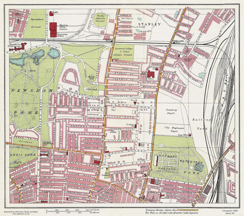 Wavertree Park area (Liverpool 1928 Sheet 4)
