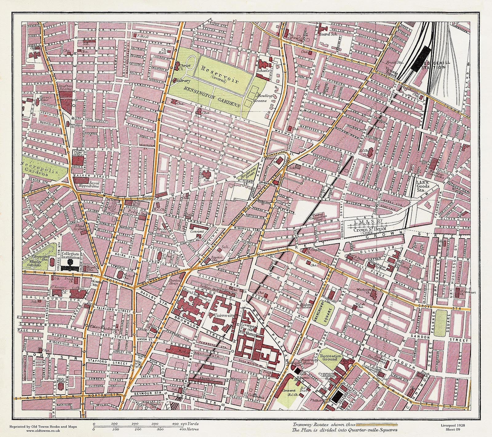 Crown Street area (Liverpool 1928 Sheet 9) on marylebone map, liverpool england central map, borough map, paddington station map, russell square map, bangkok airport map, leadenhall market map, covent garden map, grosvenor square map, camden town map, east india map, west end map, tower hill map,