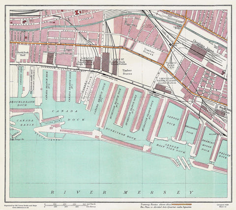 Canada Dock area (Liverpool 1928 Sheet 12)