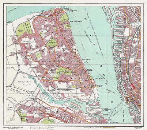 Wallasey area (Liverpool 1928 Sheet 17)