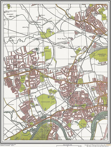 Ealing, Acton, Chiswick (London 1908 Sheet 9)