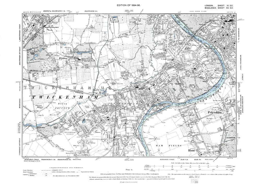 MAP OF NORTH WEST GLOUCESTERSHIRE 1896