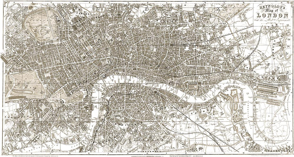 Reynolds Map Of London 1851