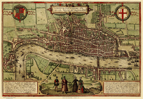 London (Londinium) in 1572
