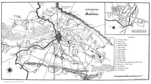 Maidstone & Environs in 1834