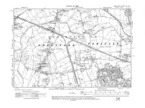 Ealing (N), Greenford, Perivale, Northolt (E), Middlesex in 1920 (15-NE)