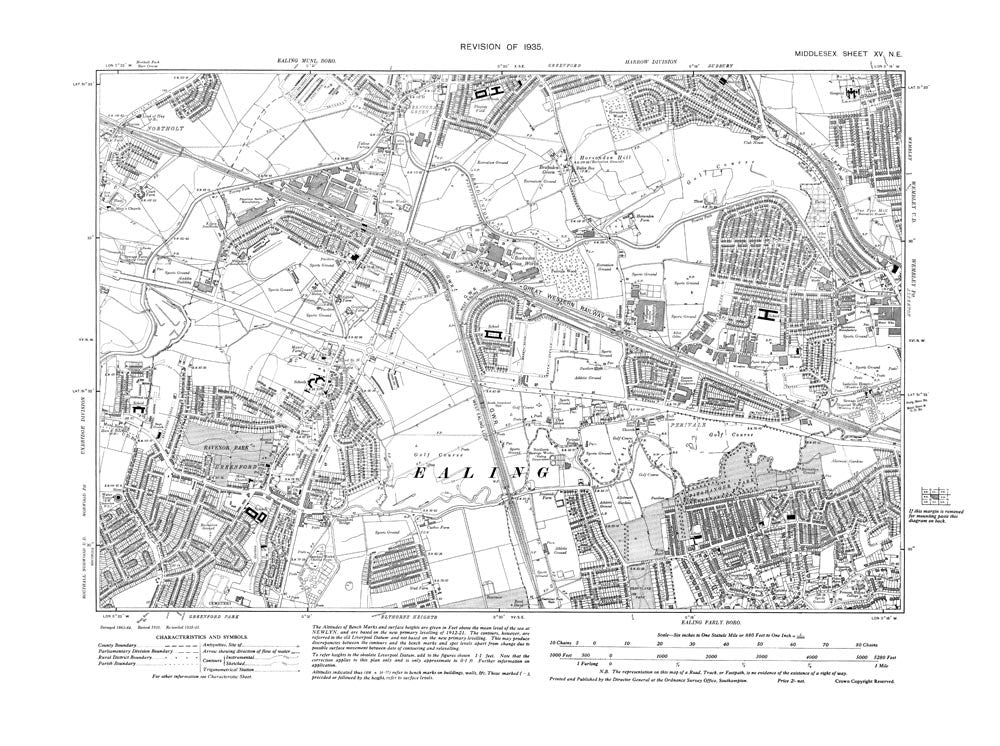 perivale middlesex map