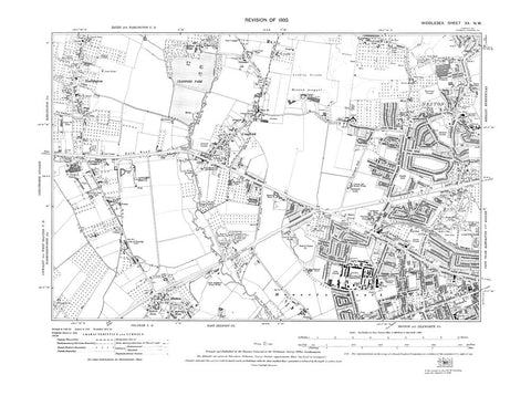 Cranford, Harlington, Heston, Hounslow (NW), Middlesex in 1932 (20-NW)