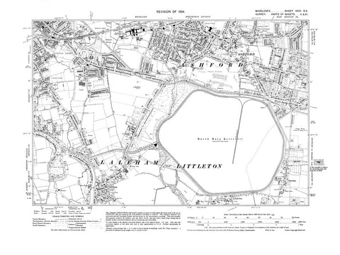 Ashford, Knowle Green, Laleham, Littleton (N), Middlesex in 1934 (24-NE)