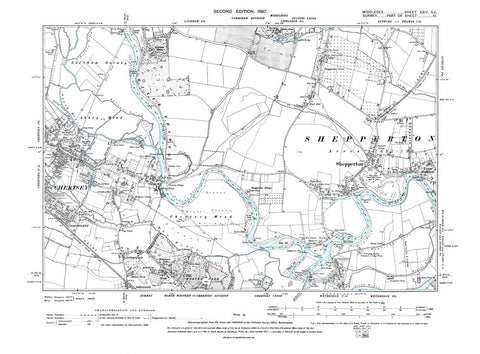 Chertsey (E), Shepperton, Wybridge (N), Middlesex in 1899 (24-SE)