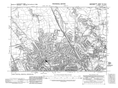 Edgware, Stone Park, Mill Hill, Highwood Hill, Middlesex in 1938 (6-SW)