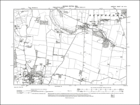 NORFOLK 14NW : old map of Sedgeford, Snettisham in 1906