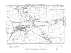NORFOLK 07NE : old map of Burnham Market, Overy in 1907