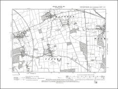 NORTHAMPTONSHIRE 002SE : old map of Bainton, Barnack, Helpston, Ufford in 1901