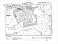 NORTHAMPTONSHIRE 002SW : old map of Burghley House and Park in 1901