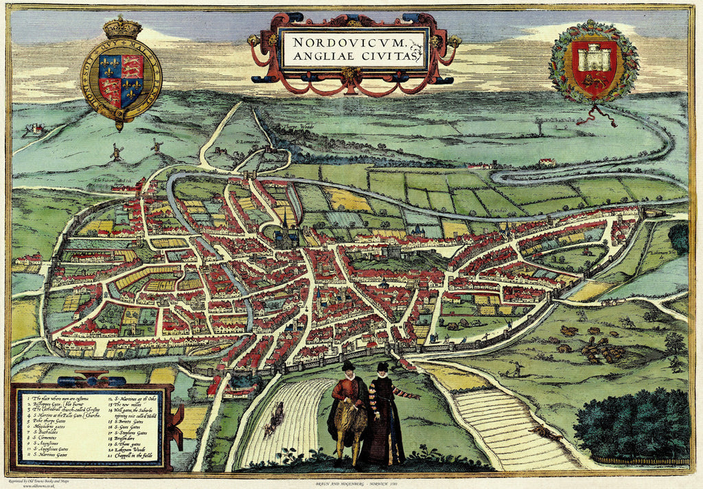 Norwich (Nordovicum) in 1581