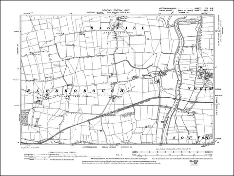 NOTTINGHAMSHIRE 020NE : old map of Fledborough, Ragnall, North Clifton in 1900