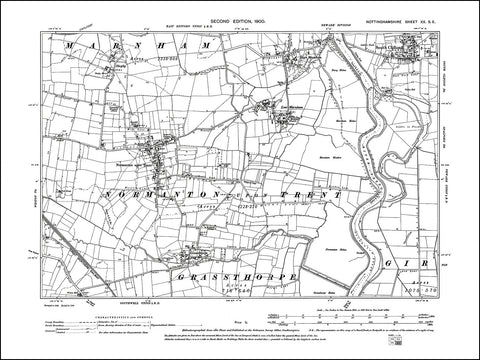 NOTTINGHAMSHIRE 020SE : old map of Mormanton upon Trent, Grassthorpe, South Clifton in 1900