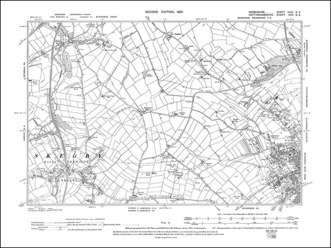 NOTTINGHAMSHIRE 022SE : old map of Mansfield (northwest), Skegby, Mansfield Woodhouse (west) in 1900