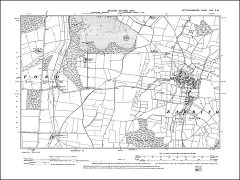 NOTTINGHAMSHIRE 024SW : old map of Eakring in 1900