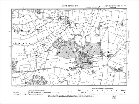 NOTTINGHAMSHIRE 025NW : old map of Ossington, Moorhouse in 1900