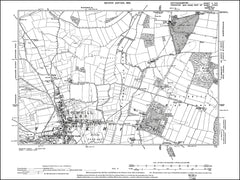 NOTTINGHAMSHIRE 002SE : old map of Tickhill in 1900