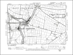NOTTINGHAMSHIRE 004SE : old map of East Stockwith, West Stockwith in 1900