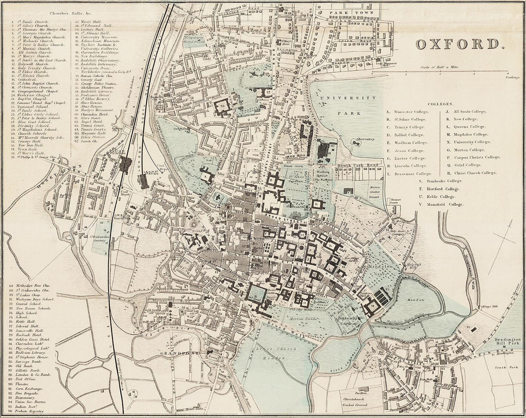 Oxford in 1890 by G. W. Bacon