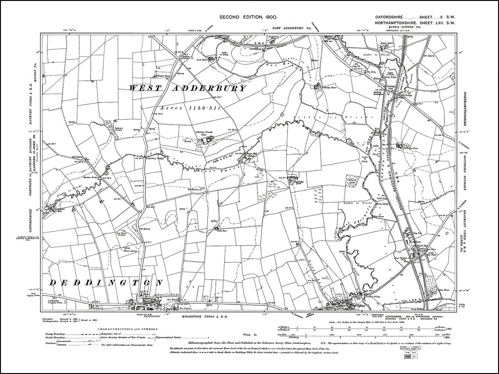 OXFORDSHIRE 010SW : old map of Deddington (north), Clifton (north) in 1900